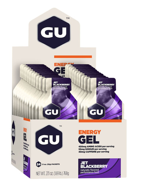 GU Energy Gel Box Jet Blackberry 24 x 32g